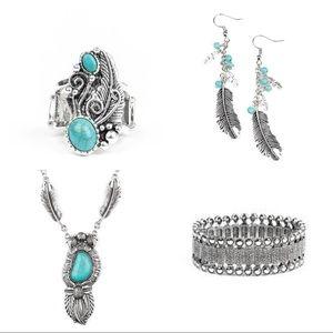 5-Pc Set Necklace, Earrings, Bracelet, Ring